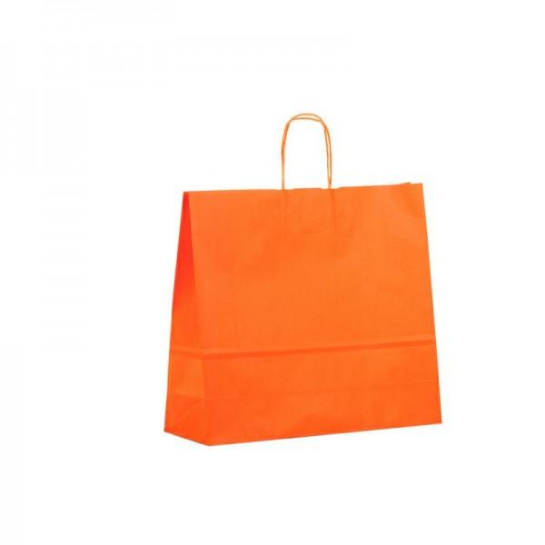 Papier Tragetaschen 42x13x37cm orange
