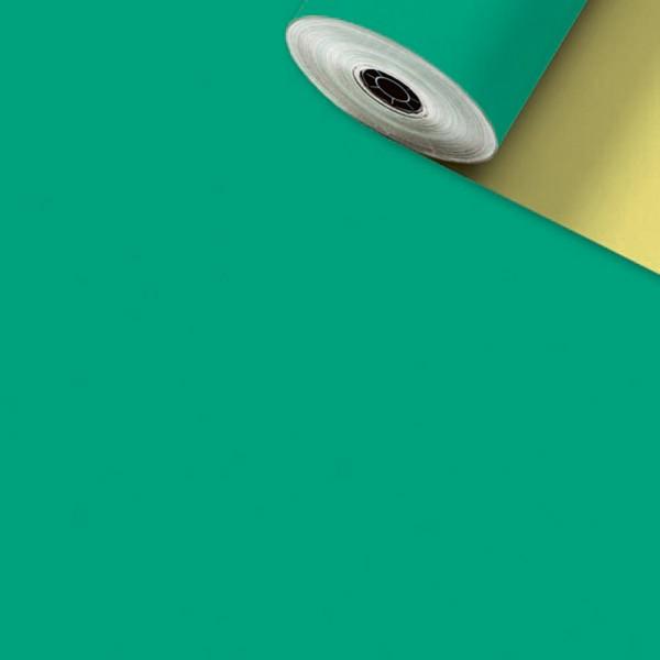 Geschenkpapier-Rolle 50cm 200Meter Uni matt grün
