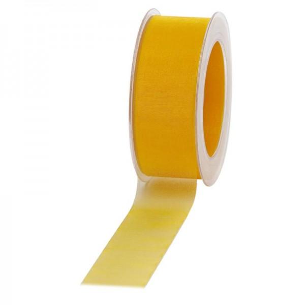 Geschenkband Chiffon 40mm/50Meter gelb