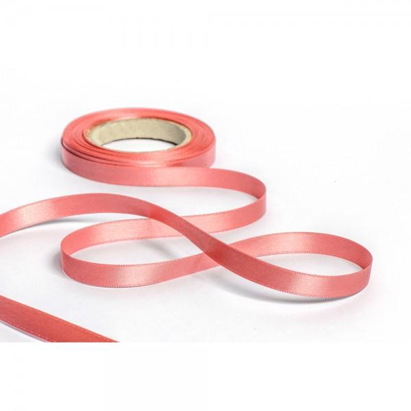Geschenkband mit Druck 25mm breit 100 Meter altrosa
