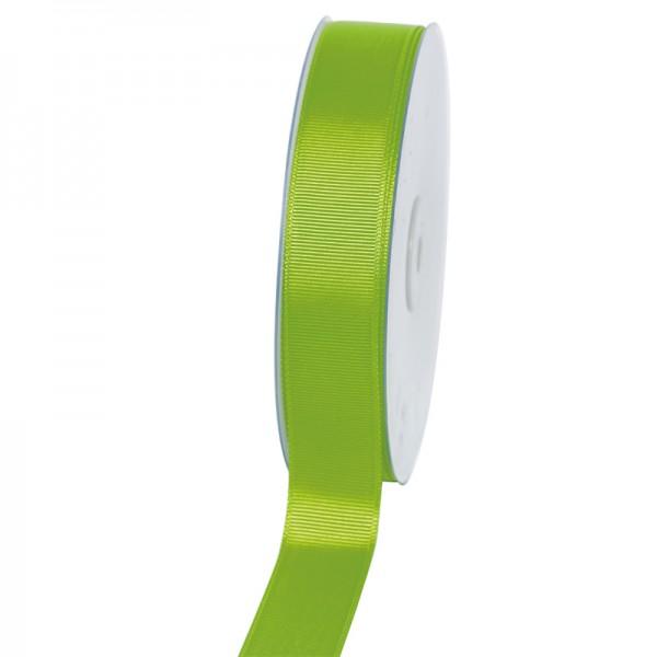 Geschenkband Grosgrain 25 mm/50Meter apfelgrün