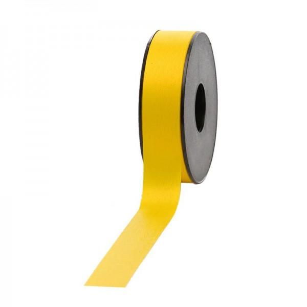 Polyband matt 25mm 45Meter gelb