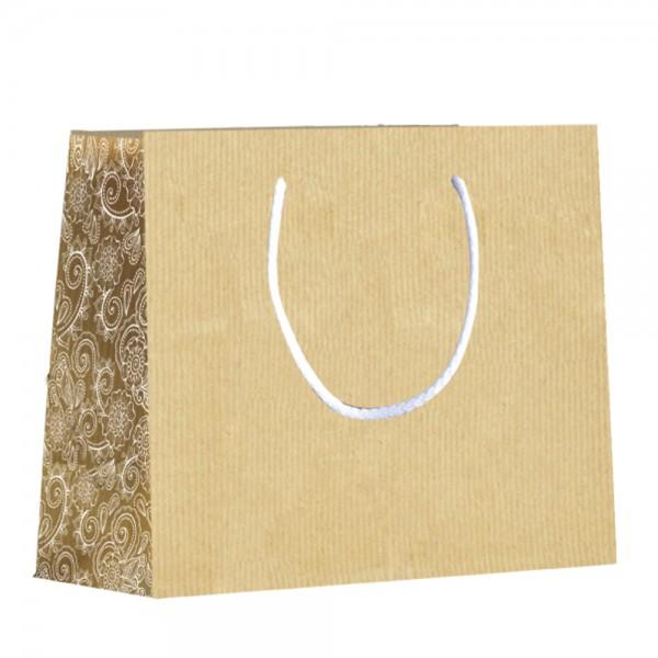 """Papier Tragetaschen """"Paisley"""" 23x10x18cm"""