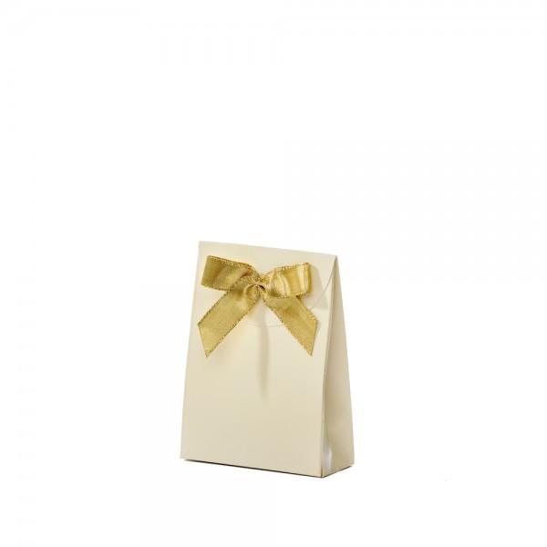 Geschenktasche 10x4x13,5+5cm creme