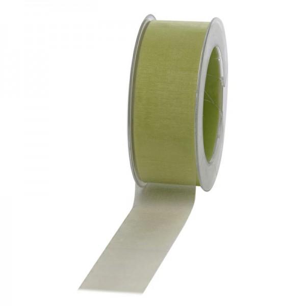 Geschenkband Chiffon 40mm/50Meter hellgrün