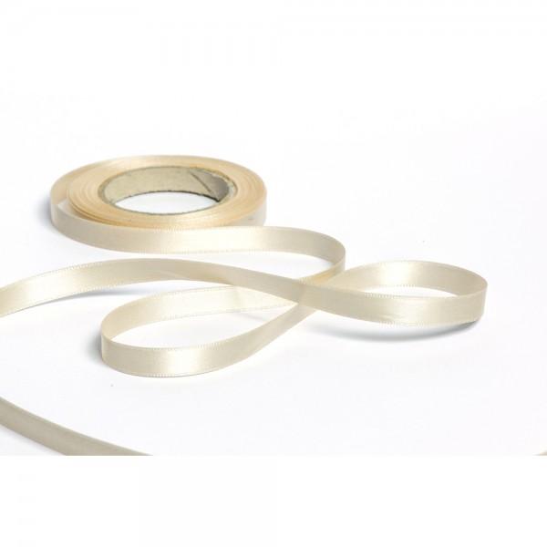 Geschenkband mit Druck 35mm breit 100 Meter elfenbein