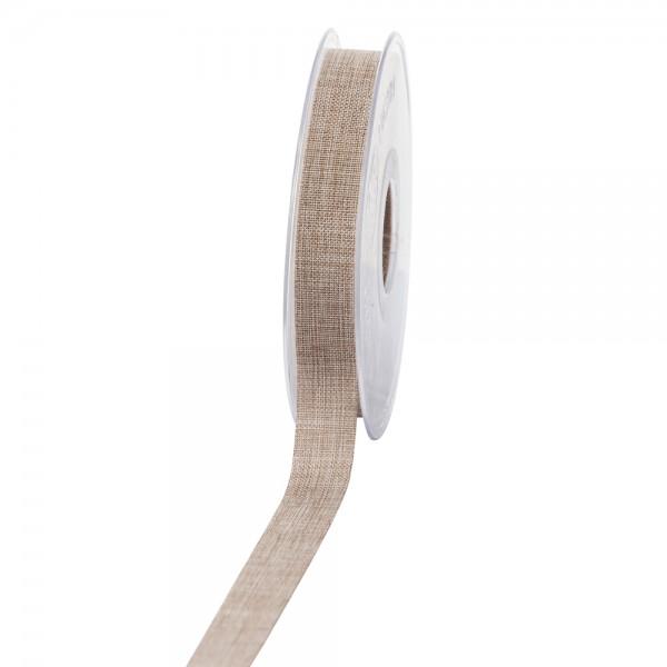 Geschenkband Leinenoptik 15mm 20Meter Natur