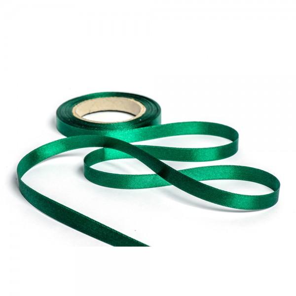 Geschenkband mit Druck 10mm breit 100 Meter jägergrün