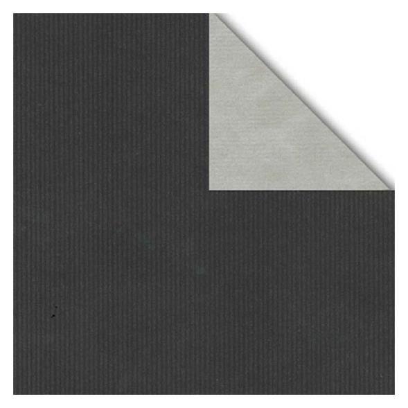 Geschenkpapier Rolle 50cm 250Meter 2-seitig schwarz/silber
