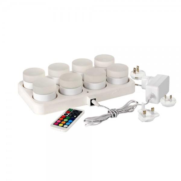 DUNI LED Mini Lamp 8 Stück 48x50 mm