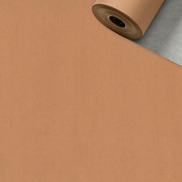 Geschenkpapier Rolle 50cm 50Meter silber/kupfer