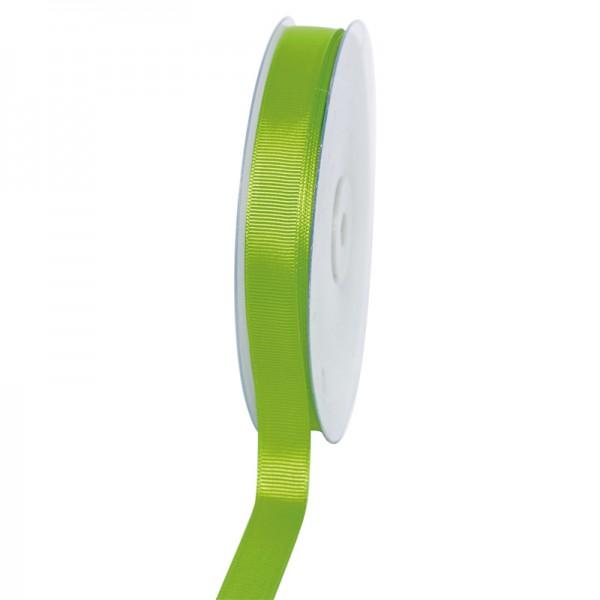 Geschenkband Grosgrain 16 mm/50Meter apfelgrün