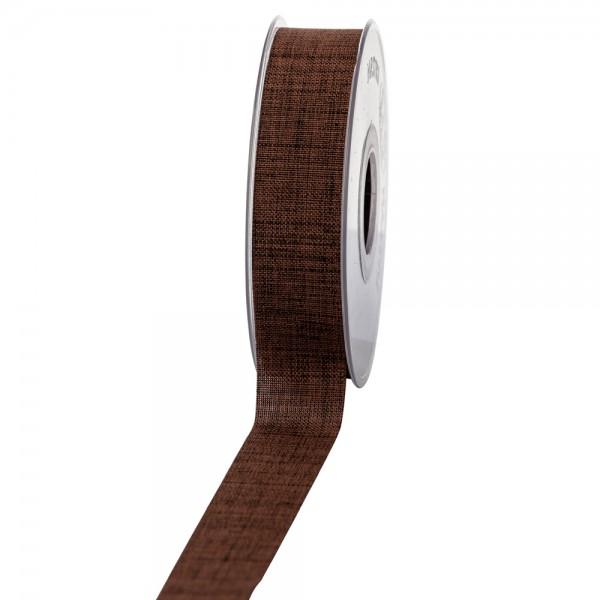 Geschenkband Leinenoptik 25mm 20Meter Braun