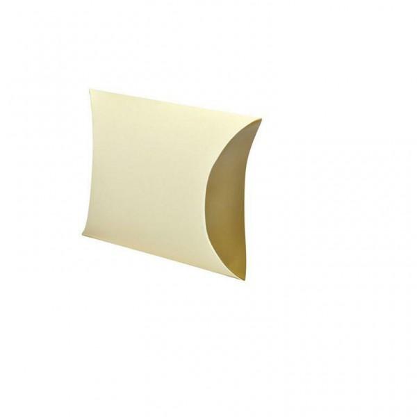 Kissentaschen uni creme/gold groß 11x5x9.5 cm