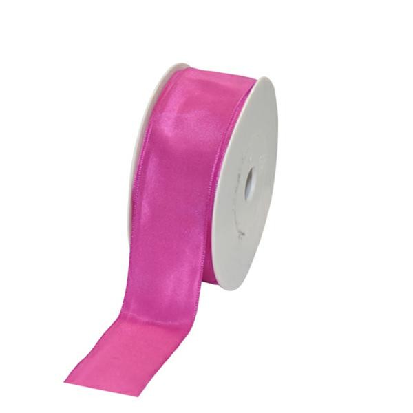 Geschenkband Stoff m. Draht 40mm/25Meter pink