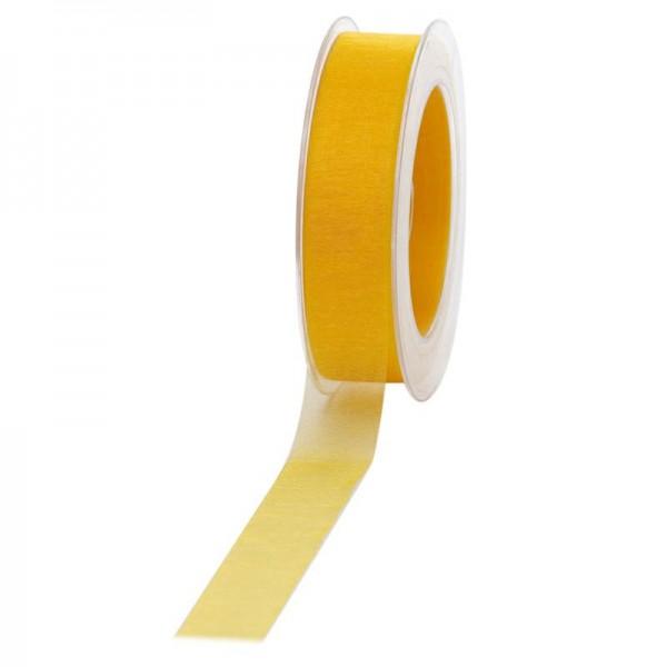Geschenkband Chiffon 25mm/50Meter gelb