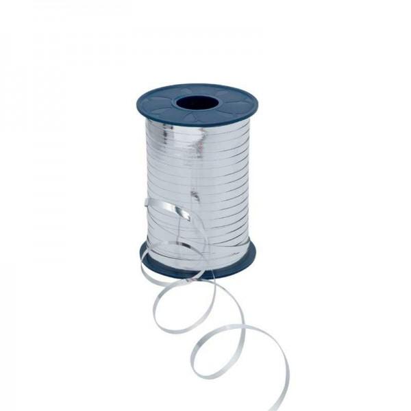 Polyband metallic 5mm 400Meter silber