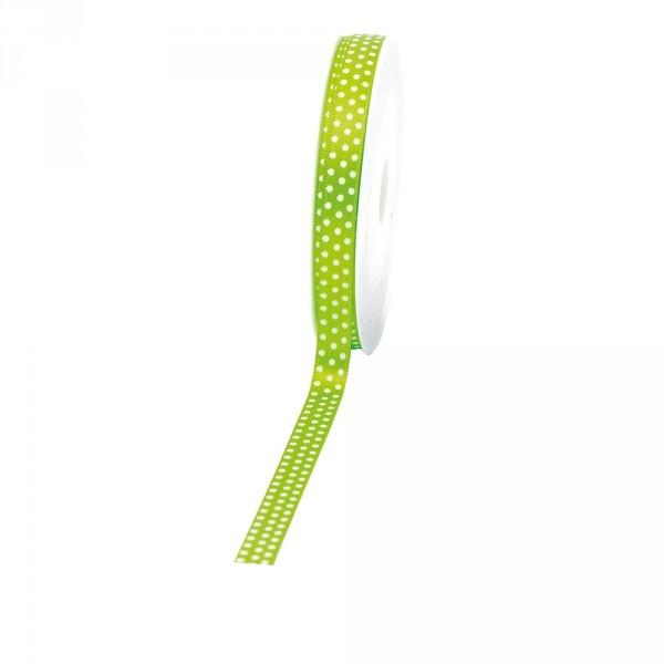 "Geschenkband ""Punkte"" 10mm 25Meter grün"