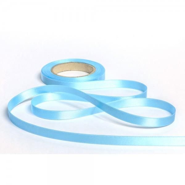 Geschenkband mit Druck 15mm breit 100 Meter eisblau