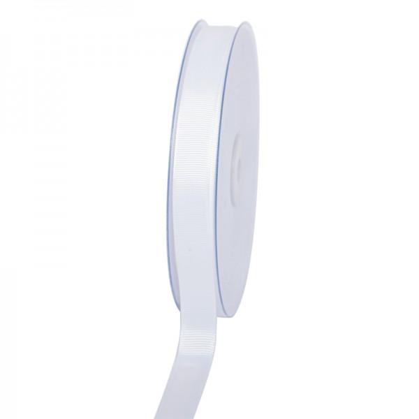 Geschenkband Grosgrain 16 mm/50Meter weiß