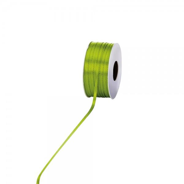 Satinband 3mm 100Meter Apfelgrün