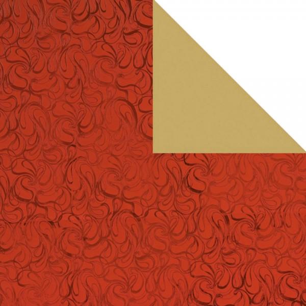 Geschenkpapier Bogen 70x100 cm Haze rot