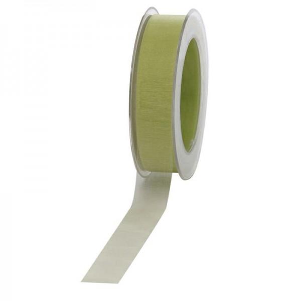 Geschenkband Chiffon 25mm/50Meter hellgrün