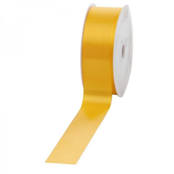 Geschenkband Stoff 40mm / 50Meter gelb