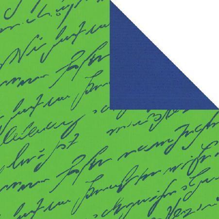 Geschenkpapier Rolle 50cm 250Meter grün blau