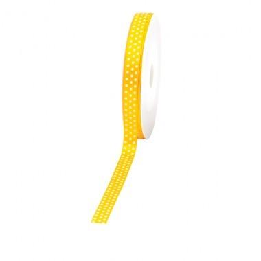 """Geschenkband """"Punkte"""" 10mm 25Meter gelb"""