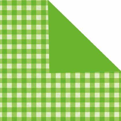 Geschenkpapier Bogen 70x100 cm grün Landhaus