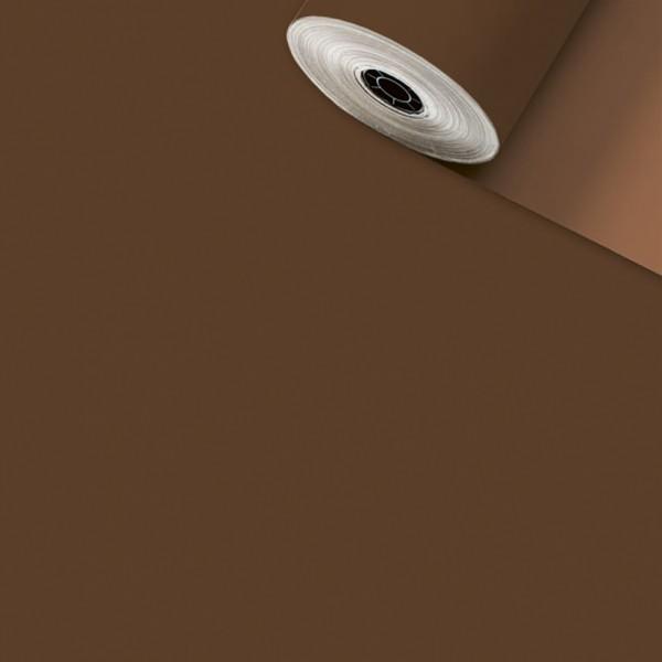 Geschenkpapier-Rolle 50cm 200Meter Uni matt braun