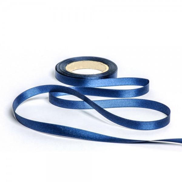Geschenkband mit Druck 10mm breit 100 Meter dunkelblau